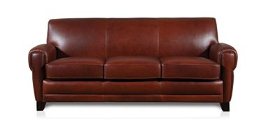 The Dump Furniture Outlet - 83 LEATHER CIGAR SOFA $999