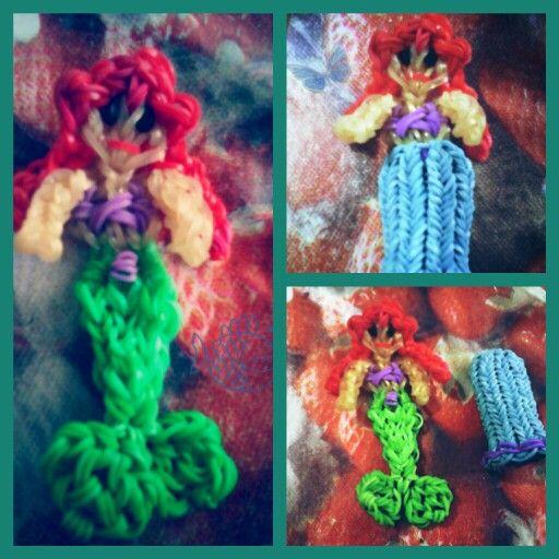 La sirenita  Hecho con telar rainbow loom