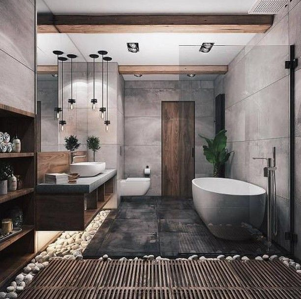 Luxury Interiors On Instagram This Bathroom Tho Looks So Relaxing Classy Ho Popular Bathroom Designs Bathroom Interior Design Modern Bathroom Design