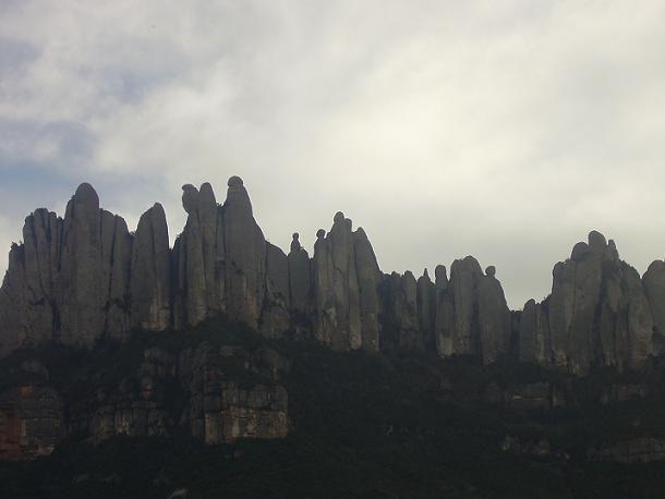 Perfil del massís de Montserrat