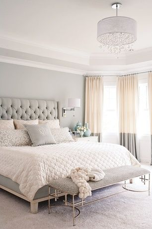 contemporary master bedroom with crown molding bella notte coverlet cotton velvet quilted worlds away. beautiful ideas. Home Design Ideas