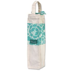 Organic Cotton :: Wine Bags :: Wine Bag Canvas - Turquoise