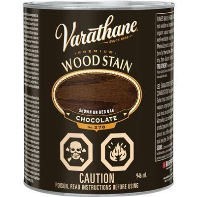Varathane stain vara premium chocolate 946ml 258767 - Interior wood stain colors home depot ...