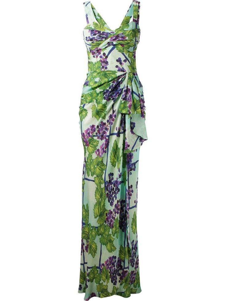 Isolda Vestido De Seda Estampado - Isolda - Farfetch.com