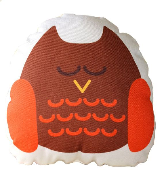 Brown Owl Cushion, Pillow, Soft Toy for Children  www.bobomoo.com