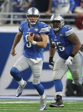 Redskins vs. Lions;   -   October 23, 2016  -  20-17, Lions  -     Lions quarterback Matthew Stafford runs against the Washington Redskins during the second half Sunday, Oct. 23, 2016 at Ford Field in Detroit.  Kirthmon F. Dozier, DFP