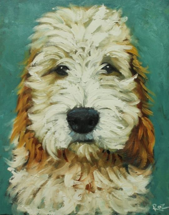 Dog   Whimsical Fine Art by Roz♥♥♥