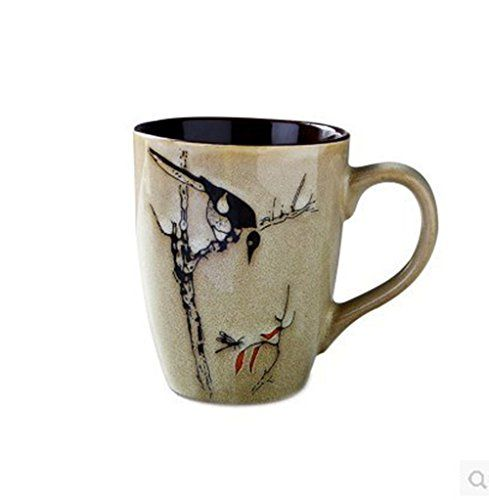 Porcelain Mug with Hand Drawing Traditional Chinese Painting BPA Free Ceramic  Comes In a Chinese Style Gift Box ** Learn more by visiting the image link.