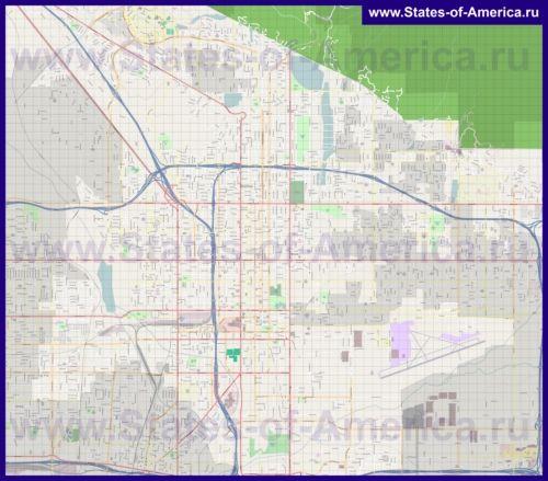 Подробная карта города Сан-Бернардино