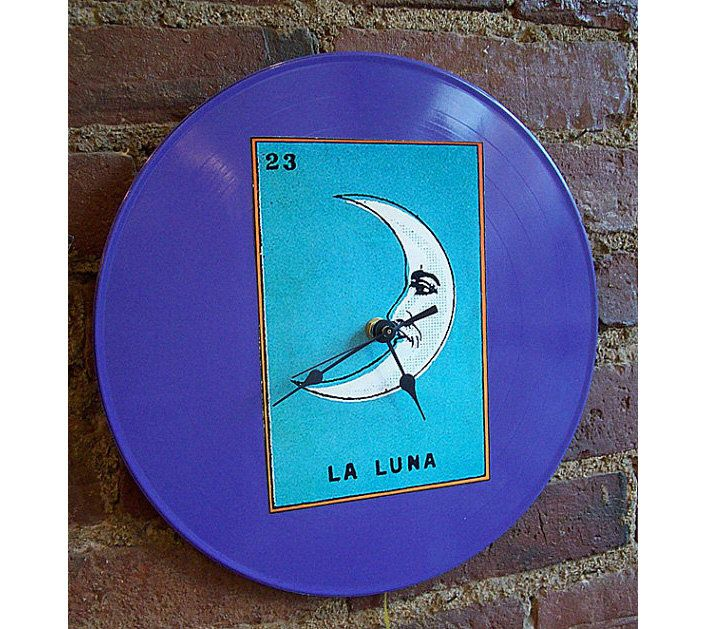 Lotería clock retro vintage pop culture kitsch decor rockabilly Mexico wall clock by buckaroosmercantile on Etsy https://www.etsy.com/listing/95498108/loteria-clock-retro-vintage-pop-culture