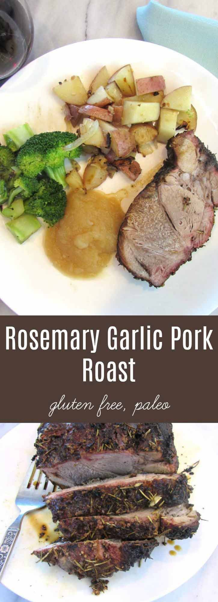 Easy Rosemary Garlic Pork Roast is perfect for a weekend or work day meal. Smoked, when there's more time. Baked or Slow Cooked when you're busy with life. | thenourishedfamily.com