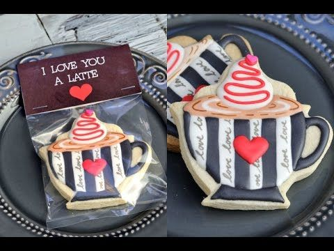 I Love You A Latte cookies are perfect for Valentine's Day. In this video I show you step by step how to make these pretty cookies. Enjoy. I love to bake, de...