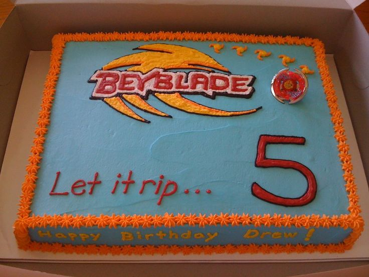 Drew's Beyblade cake