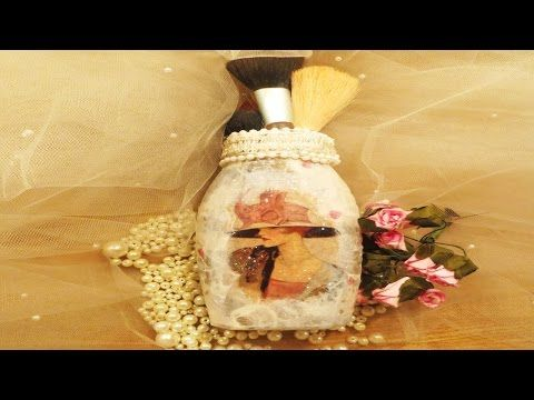 DIY Downton Abbey Inspired Glass Jar upcycle - YouTube