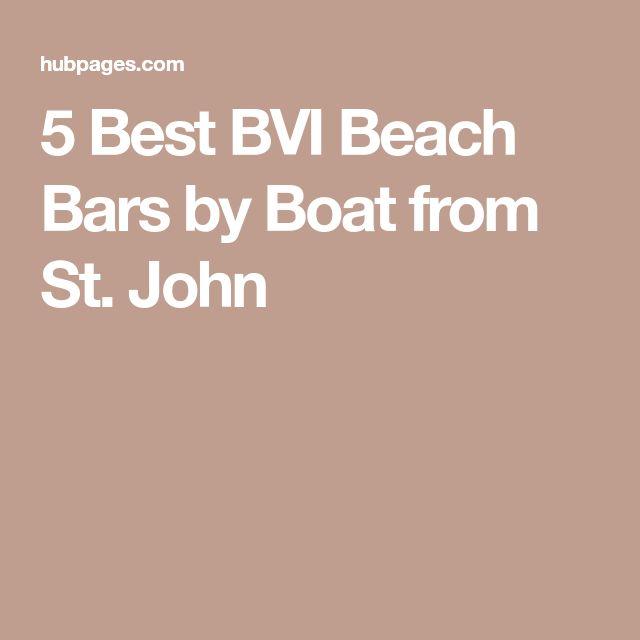 5 Best BVI Beach Bars by Boat from St. John