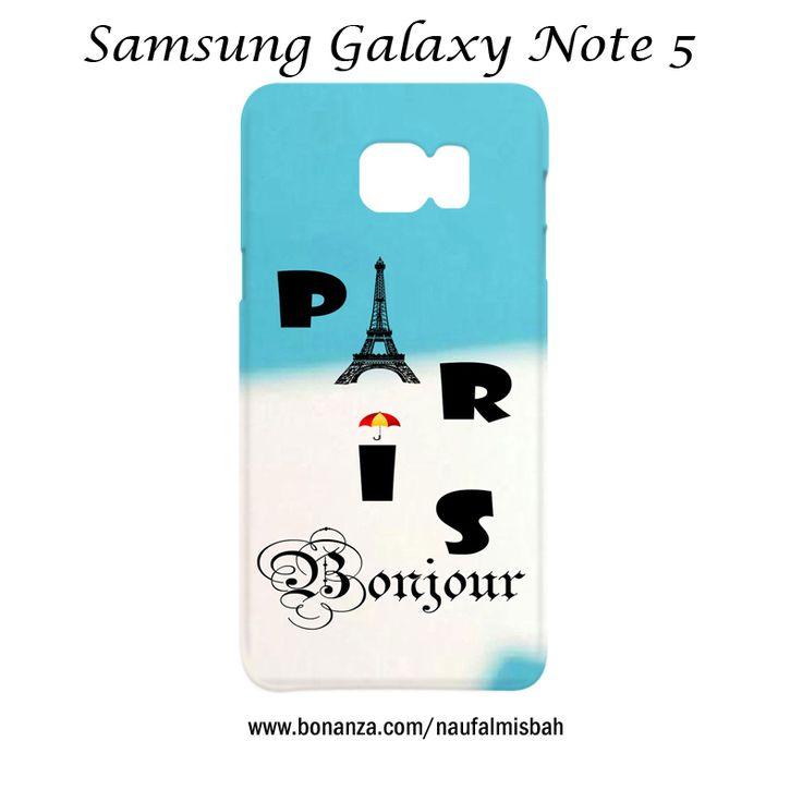 Paris Eiffel Tower Bonjour Samsung Galaxy Note 5 Case Cover Wrap Around