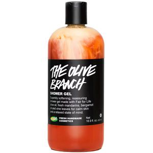 Lush The Olive Branch Shower Gel Sudsy shower gels can leave your skin feeling parched. This one is olive-oil based and produces the opposite effect; you'll get out of the shower and feel softer than you did when you got in.  Lush The Olive Branch Shower Gel, $30.95, lushusa.com.