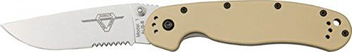 Ontario Knife RAT-1 Knife, 5in. Closed. 8849 DESERT TAN.
