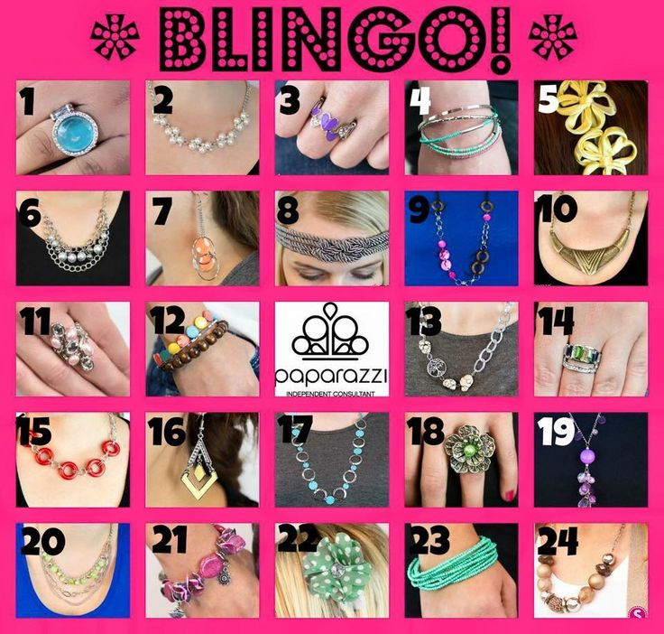 Paparazzi Blingo! You have the guests at your party pick 5 random numbers. You then start calling out numbers and the first person will all five numbers wins smile emoticon