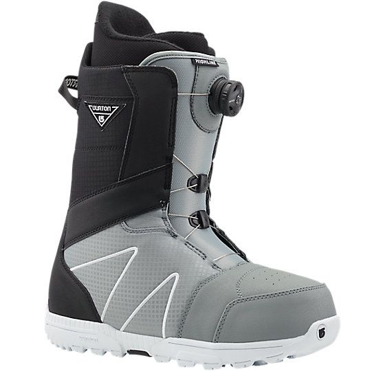 Highline Boa® Snowboard Boot US$199.95 Support Rating 4 out of 10 Softer to Responsive  LACING: NEW Boa® Coiler™ Closure System  FLEX / RESPONSE: Shrinkage™ Footprint Reduction Technology, Medium Flex Tongue  CUSHIONING / TRACTION: DynoLite Outsole, NEW Sleeping Bag Reflective Foil, Total Comfort Construction, Snow-Proof Internal Gusset, Level 1 Molded EVA Footbed  LINER: Imprint™ 1 Liner with Integrated Lacing