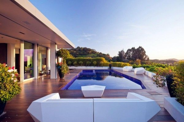 Swimming Pool Ideas from Luxury Outdoor House with Swimming Pool in Beverly Hills LA1 600x399 Luxury Outdoor House with Swimming Pool in Beverly Hills, LA