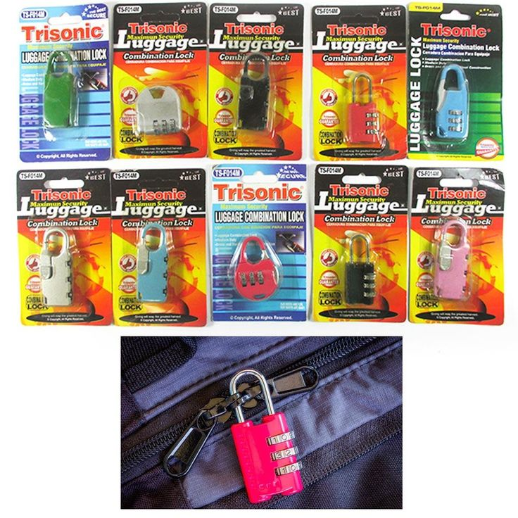 2Pcs Combination Lock 3 Digit Travel Luggage Suitcase Padlock Password Locker