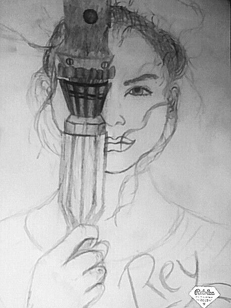 Rey from star wars draw