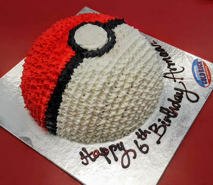 Cold Rock Pokemon ice cream cake :-) Happy birthday from all the crew at Cold Rock Aspley, DBAY and Everton Park :-)