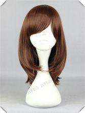Marrone chiaro parrucca per le donne delle donne di fiber sintetiche ondulate donna parrucca 1 pz cosplay luce parrucca marrone per le donne(China (Mainland))
