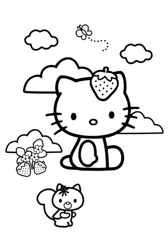 hello kitty coloring pages 4u - photo#14
