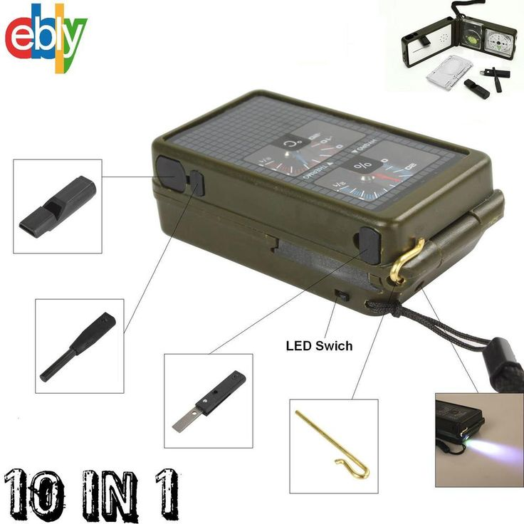 10 in 1 Multifunction Outdoor Survival Military Camping Hiking Compass Tool Kit #UnbrandedGeneric