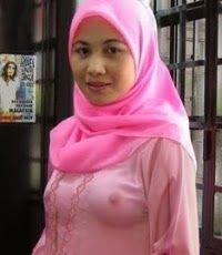 Cewek Jilbab Pink Transparant Toket Gede - keywords HERE