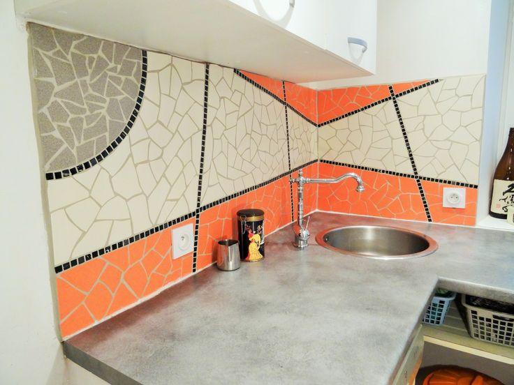 Crédence de Cuisine géométrique - Montpellier
