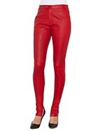 Bassike Flat Front Stretch Leather Pant  #davidjones #bassike #leather #style #red #pant #fashion @bassike