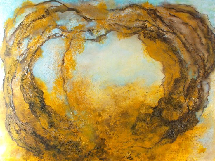 In the gilded heart... 120x150cm acrylic canvas