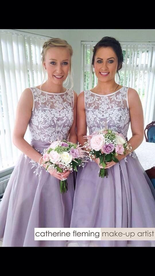 White And Lilac Short Bridesmaid Dresses 2016 Cheap Tea Length Lace Organza Maid Dresses Formal Gown Dark Green Bridesmaid Dresses Dark Red Bridesmaid Dresses From Vonsbridaldress, $76.11| Dhgate.Com