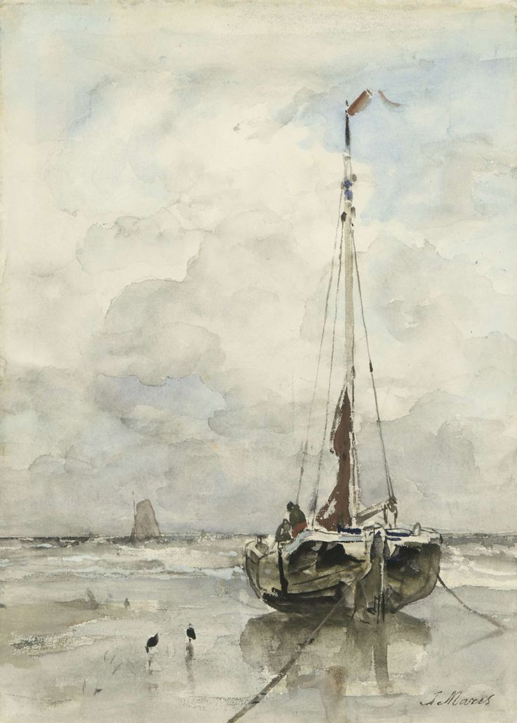 Visserspink aan het strand, Jacob Maris, 1847 - 1899