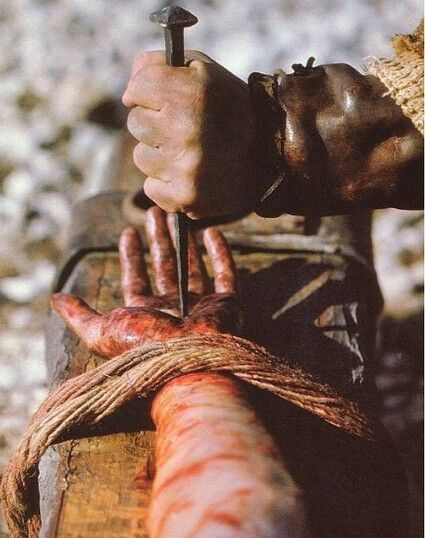 Because we him suffer Because we crucified him So that the world is lost to be saved from eternal damnation