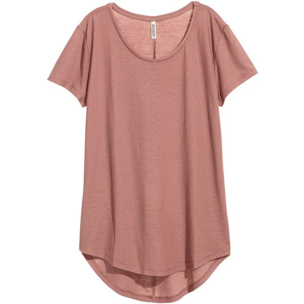 Jersey Crêpe Top $17.99 ($18) ❤ liked on Polyvore featuring tops, shirts, red short sleeve top, red jersey, crepe top, red top and jersey top