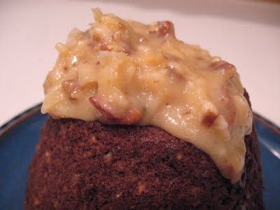 german chocolate steamed pudding
