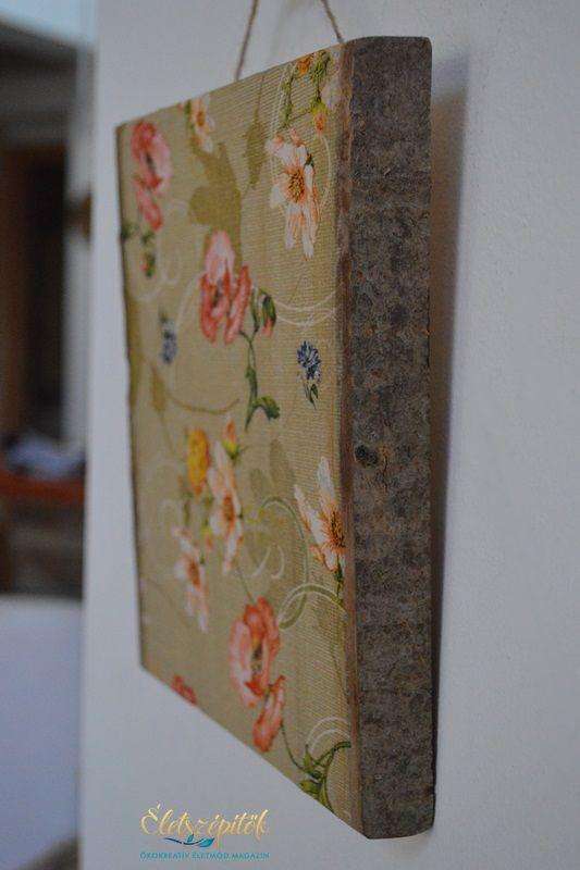 Egyedi falikép: szeletelt fa szalvétatechnikával díszítve | Életszépítők