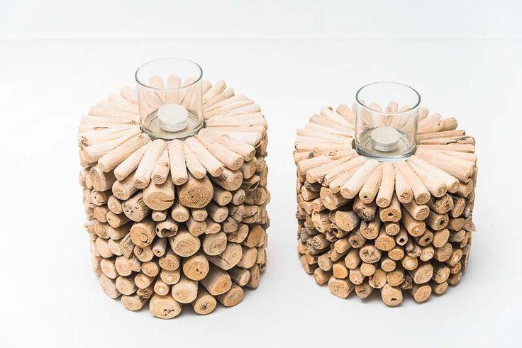 Porta candela in legno di EmporioDelTessuto su Etsy