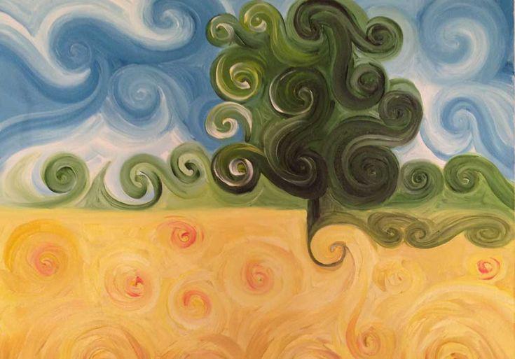 Dipinti ad olio: Campo di Grano
