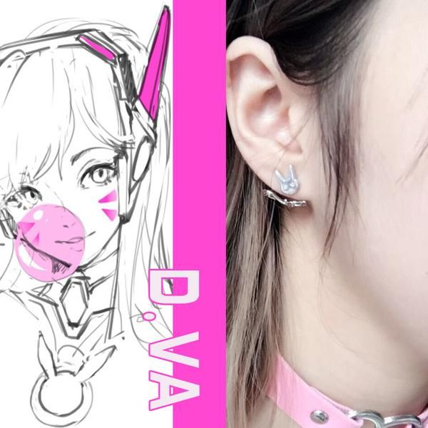 Overwatch Dva Bunny Earrings - AFK eSport Store