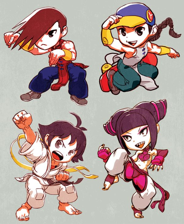 Street Fighter Yun Yang Makoto Juri by oetaro.deviantart.com on @deviantART