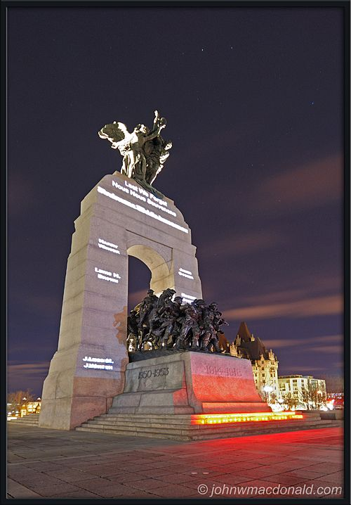 National War Memorial,Ottawa, Ontario, Canada.