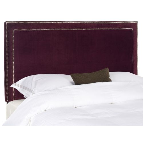 Amazing Queen Purple Headboard With White Cushions