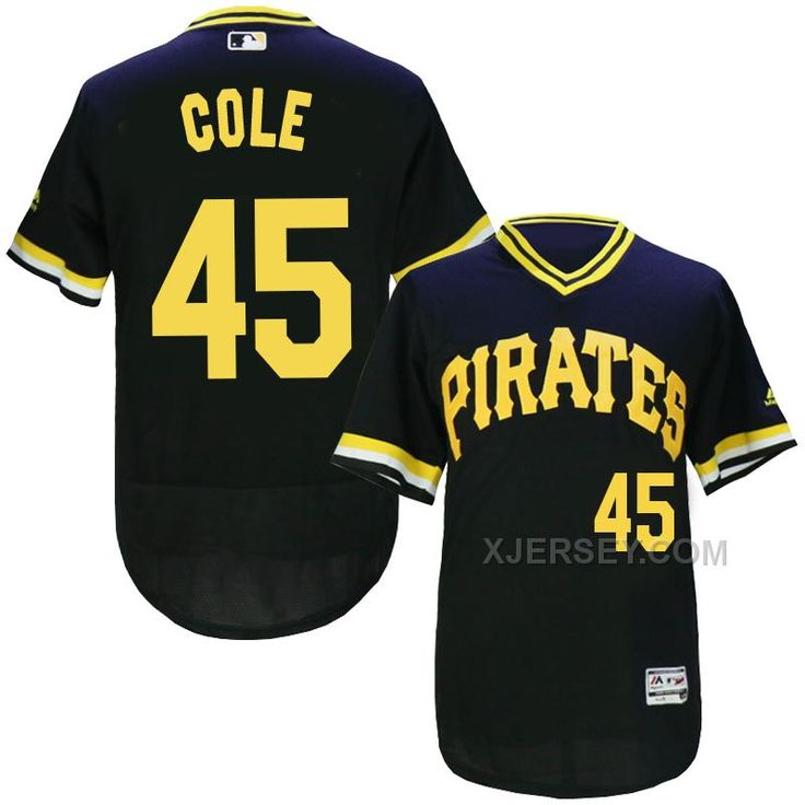 http://www.xjersey.com/pirates-45-gerrit-cole-black-throwback-flexbase-jersey.html PIRATES 45 GERRIT COLE BLACK THROWBACK FLEXBASE JERSEY Only $35.00 , Free Shipping!