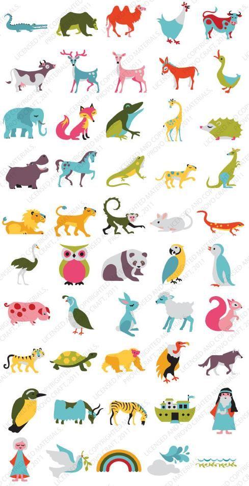 10 Best Images About Cricut Noah S Abc Animals On