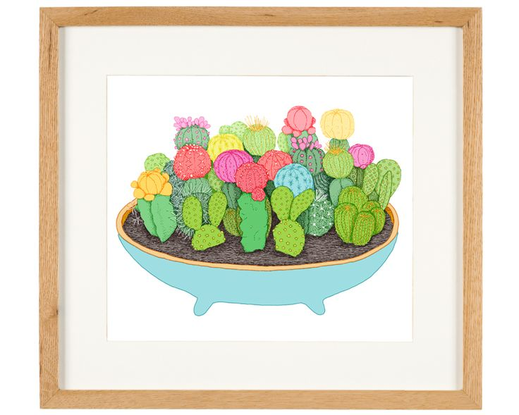 'Cactus Party' - limited Edition of 50 - A3 giclee print (unframed) - anniedavidson.bigcartel.com